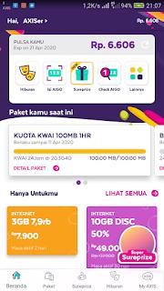 Kuota Axis Gratis 100 Mb untuk Akses Aplikasi Kwai