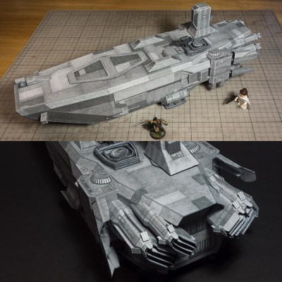 Star Wars First Order AAL Paper Model