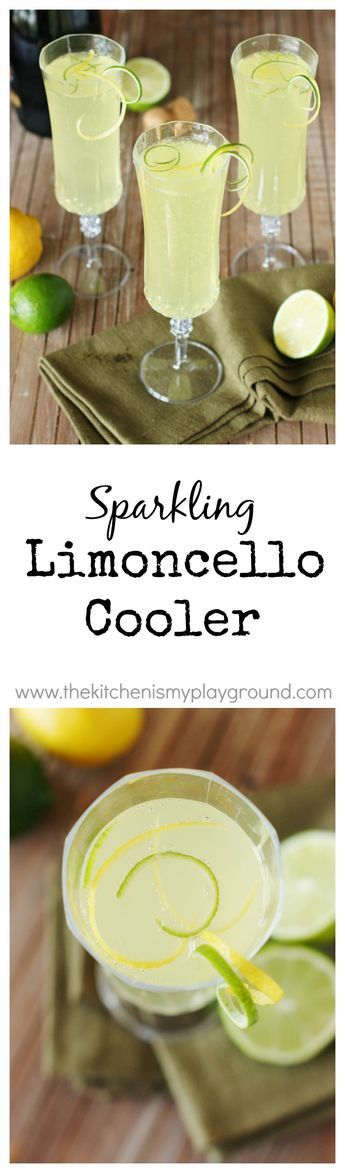 With it's refreshing combination of fresh lime juice, Limoncello, and bubbly sparkling wine, how could this Sparkling Limoncello Cooler not  be the perfect spring and summer cocktail?