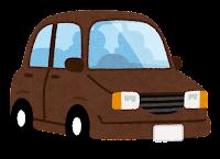 茶色の自動車のイラスト
