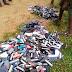 Photo News: Ibadan Polytechnic Burnt Students' Phones Worth N15m (Photos)