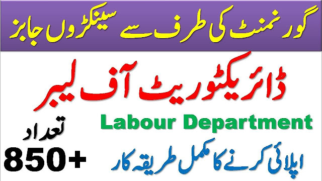 Directorate of Labour Jobs 2021