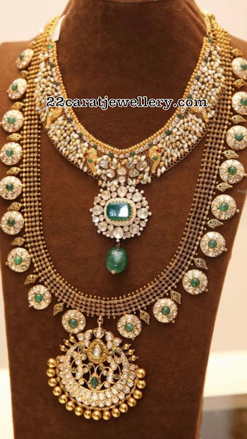 Bottu Mala and Pachi Work Necklace