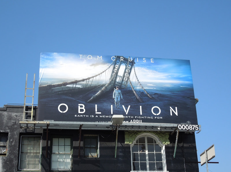 Tom Cruise Oblivion billboard