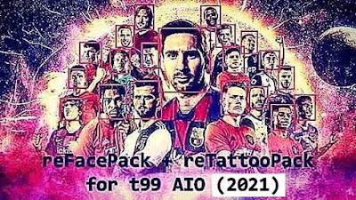 FACE & TATTOO PACK PES 2017 UPDATE 2021