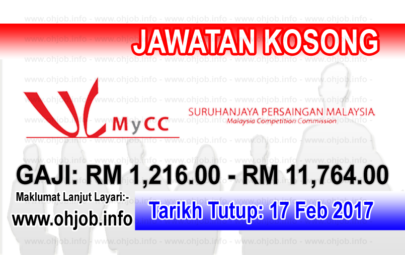 Jawatan Kerja Kosong Suruhanjaya Persaingan Malaysia (MyCC) logo www.ohjob.info februari 2017