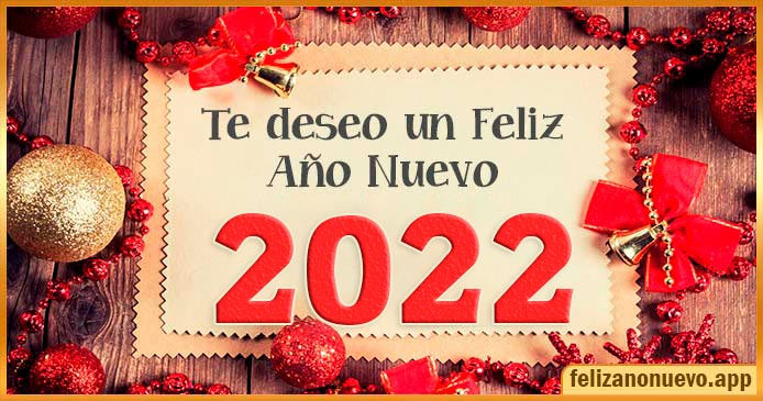 Saludos de año nuevo 2022