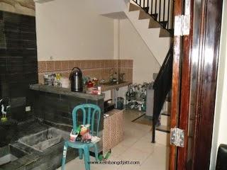 sebelum Kitchen Set Multiplek HPL Laminate Corak Kayu