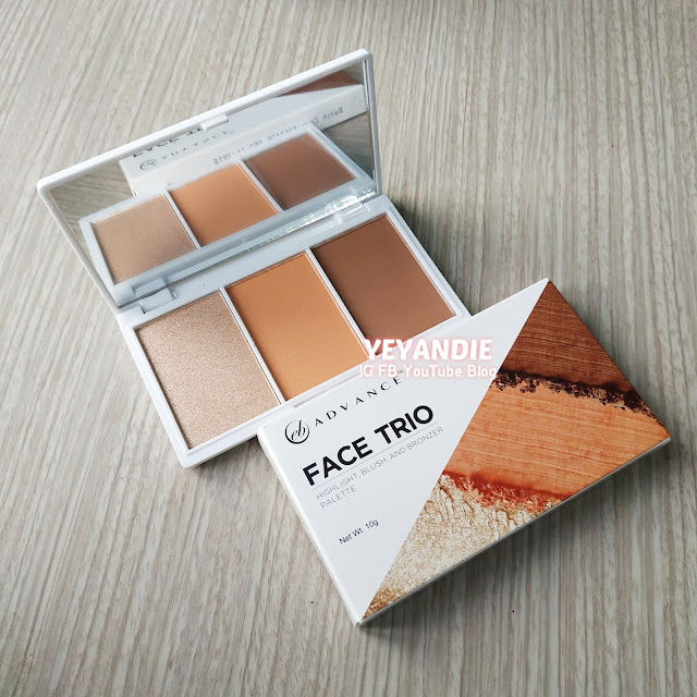 EB Advance Face Trio Review Swatches Price  (SUNSET)- New Blusha and Contour from Ever Bilena!