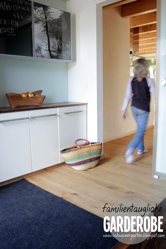 Ein Schweizer Garten Familiengarderobe Wohnen Mit Kindern