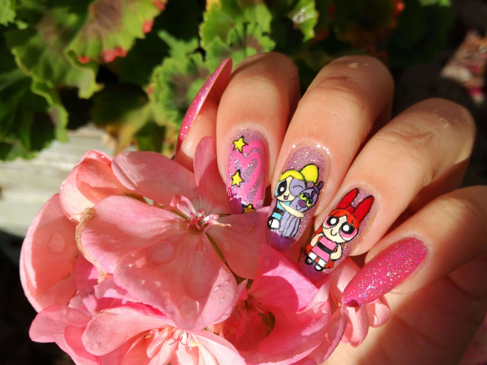 power puff girls nails