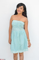 Sahana New cute Telugu Actress in Sky Blue Small Sleeveless Dress ~  Exclusive Galleries 015.jpg