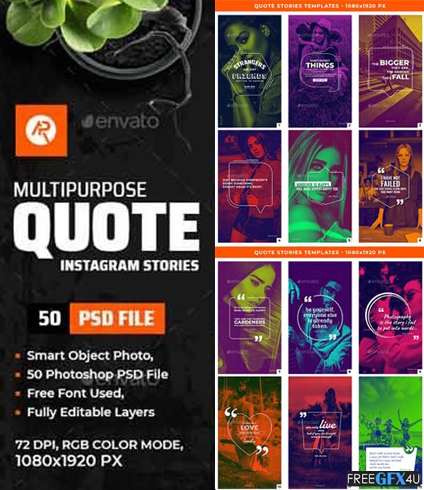 Quote Stories Templates