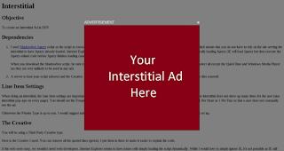 Ejemplo de anuncio Interstitial