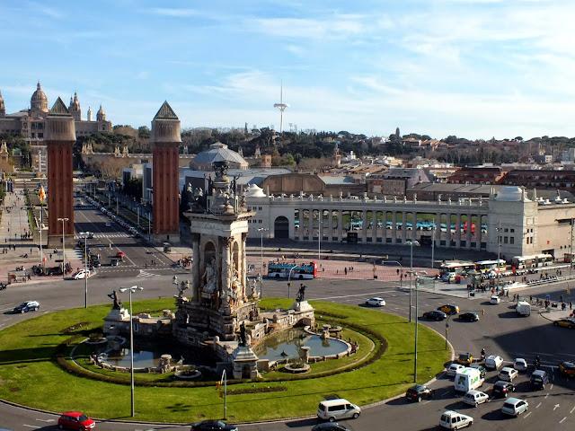 dónde está el mirador de la Plaza de España Barcelona