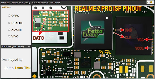 Emmc ISP Pinout v1.0 Latest All Pinout (2020) Oppo, Vivo, Realme,Xiaomi Free Download