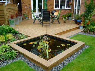 membuat kolam ikan kecil dan sederhana di halaman rumah