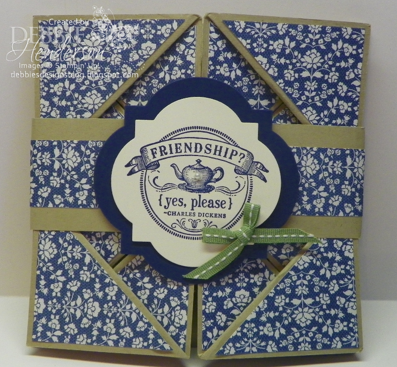 debbie's designs tuesday tips or techniquesnapkin fold