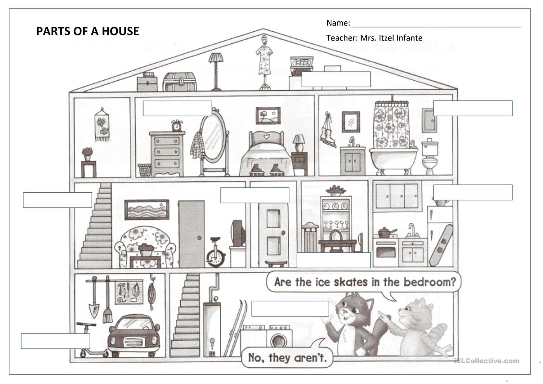 Recursos Educativos Para Casa Parts And Rooms Of The
