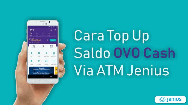 Cara Top Up OVO Cash Lewat ATM Jenius BTPN - BLOCKNESIA