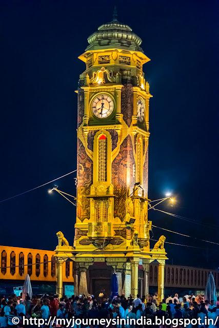 Clock Tower at Har-Ki-Pauri Ghat Haridwar