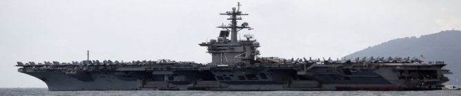The U.S. Navy Sent This Aircraft Carrier To Train With India