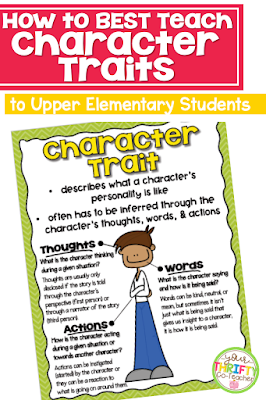 Teaching students about character traits beyond the standard 'kind and mean' can be challenging, especially in the upper grades where not only are students expected to identify specific character traits, but also discuss how events in the story change the character, and how the character impacts the plot.  The good news is that providing them with scaffolds and a variety of examples can really impact their knowledge of character traits.