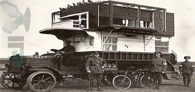 دور الحمام الزاجل في الحرب العالمية الأولي والثانية