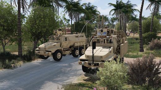 Arma3用現代軍MODのM1230 Caiman MRAP