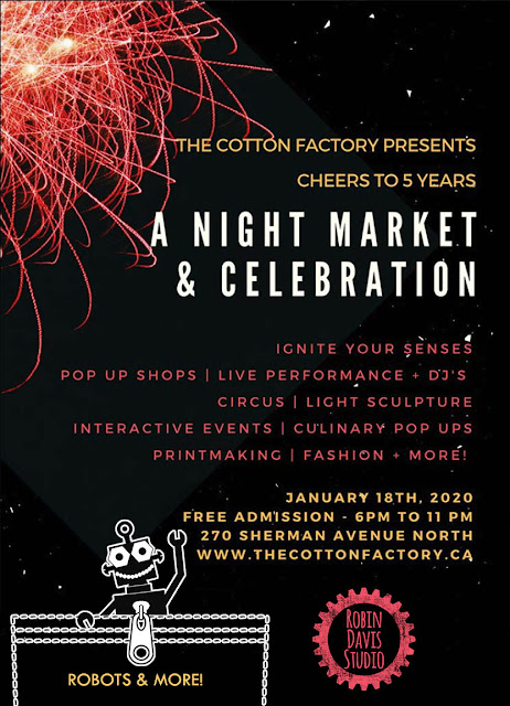 Artist Event at The Cotton Factory - Robin Davis Studio