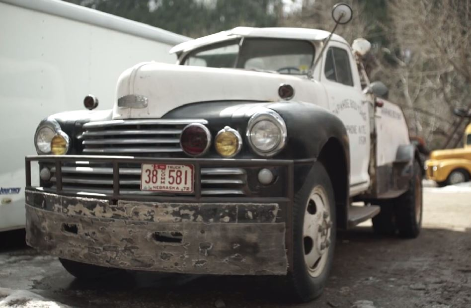 Just A Car Guy: Stormy in Colorado off the I70 has a 1949 Nash tow ...