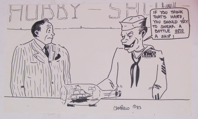 A funny 1983 US Navy cartoon by F. Lennox Campello