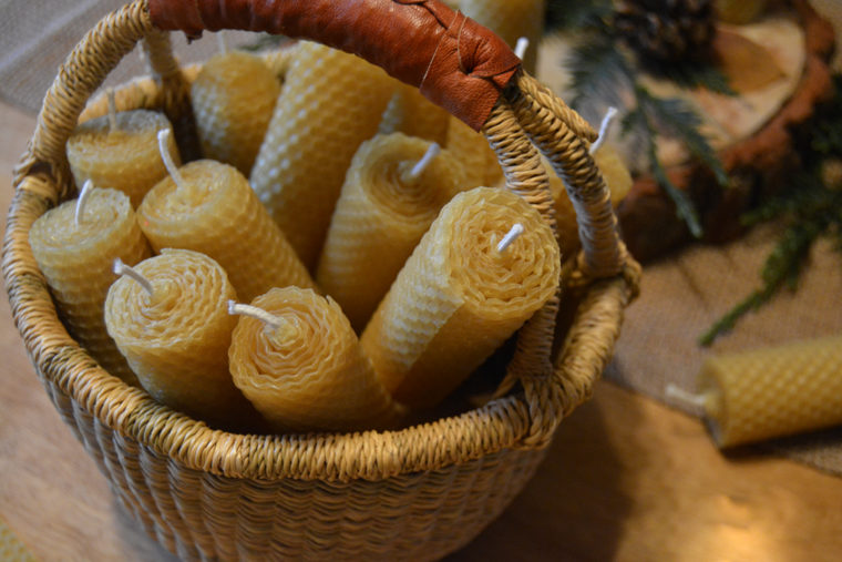 Morning Candle - rolled beeswax
