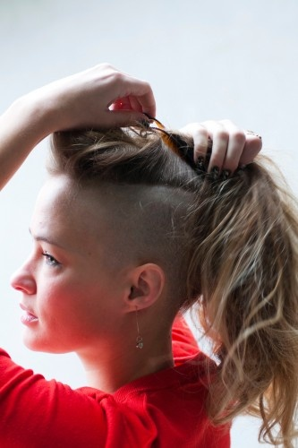 Partially Shaved Hairstyles Images And Video Tutorials