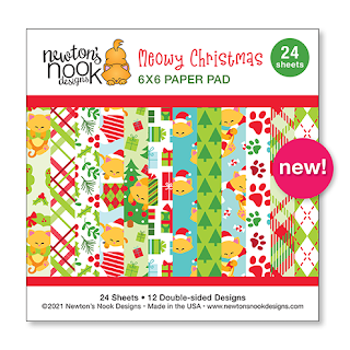 Meowy Christmas Paper Pad by Newton's Nook Designs