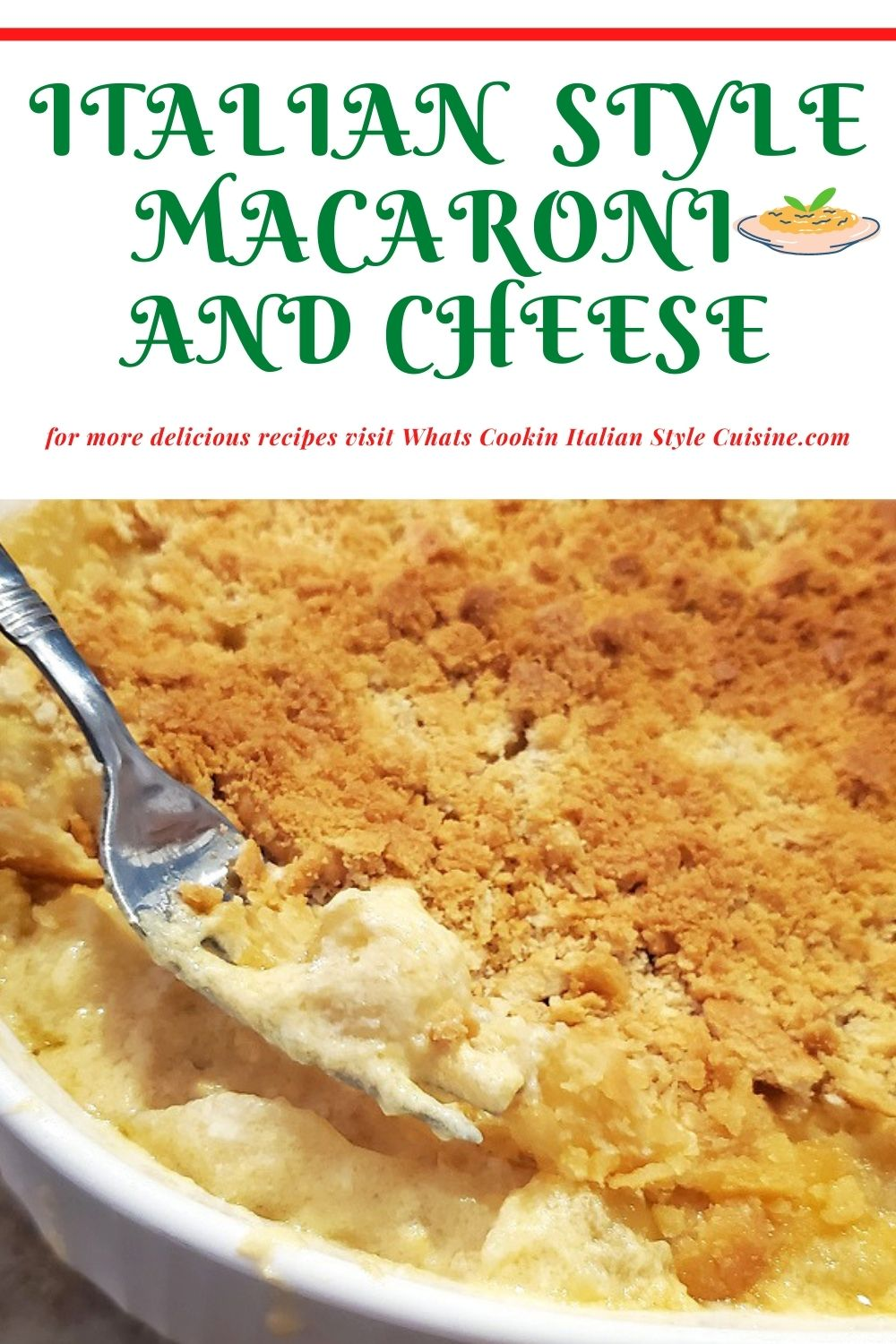 this is a pin for later how to make Italian macaroni and cheese recipe