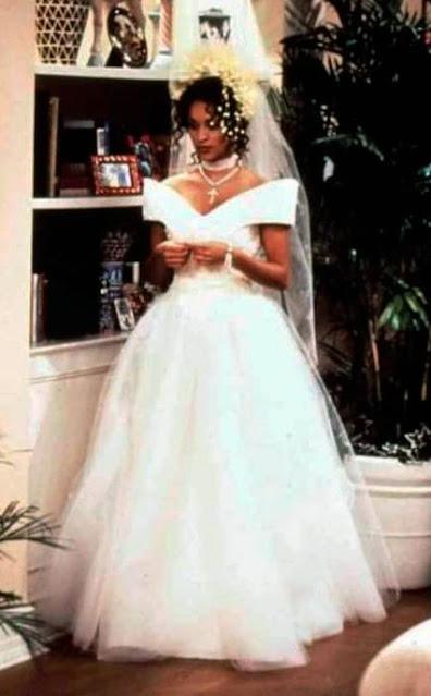 Vestido de noiva da Hilary em um maluco no pedaço