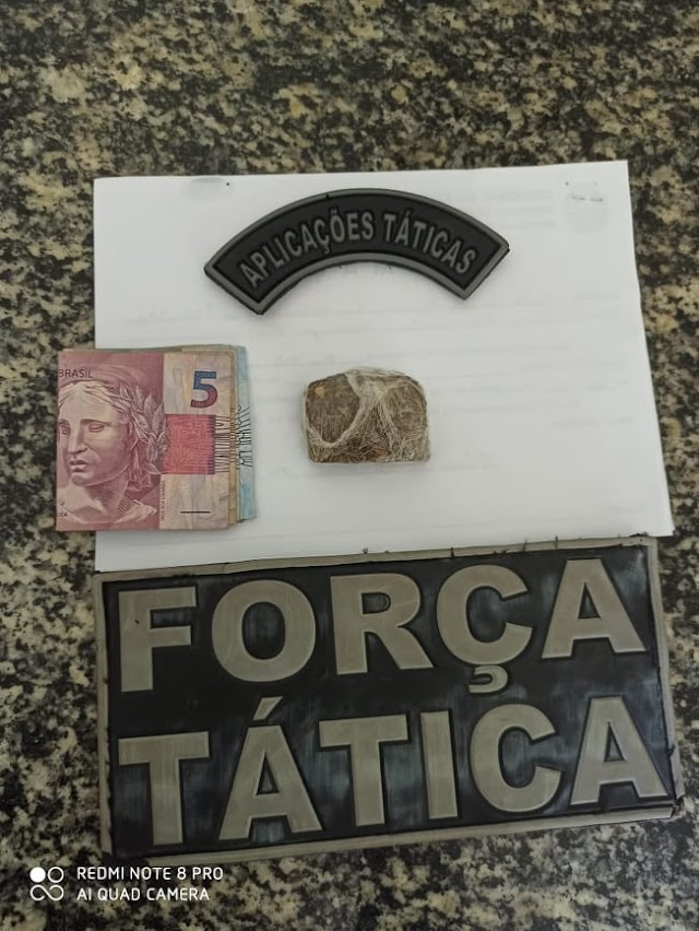 Força Tática prende suspeito de tráfico em Valença do Piauí
