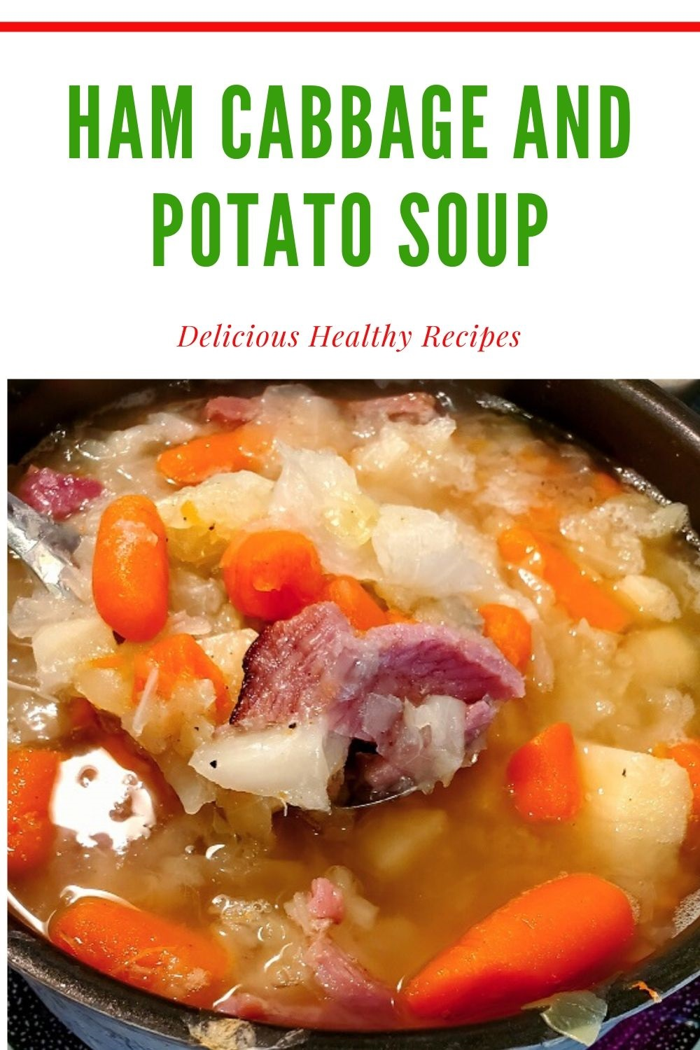 this is a pin on how to make cabbage and ham soup