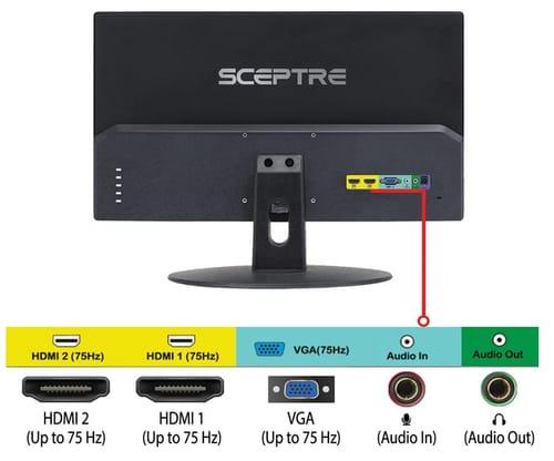 Sceptre E249W-19203R 24-inch FHD LED Gaming Monitor