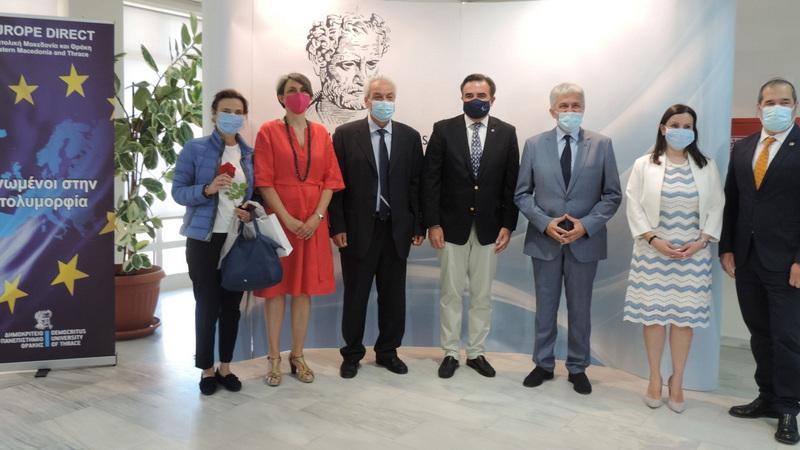 Επίσκεψη του Αντιπροέδρου της Ε.Ε. Μαργαρίτη Σχοινά στο Δημοκρίτειο Πανεπιστήμιο Θράκης