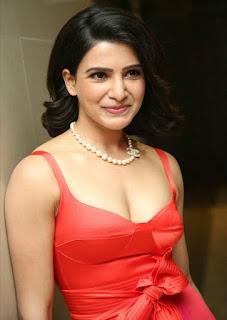 Samantha Akkineni in Orange Dress