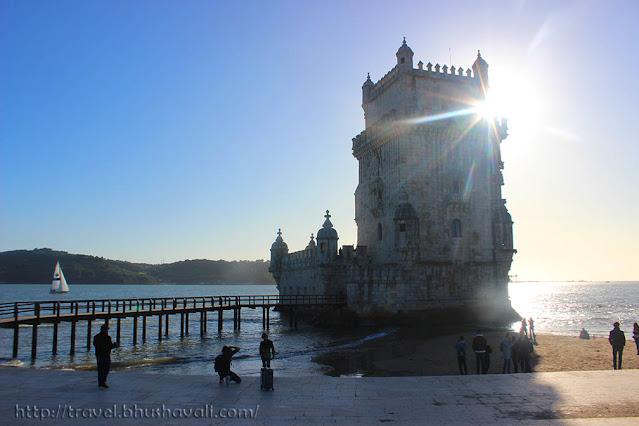 Belem Tower Lisboa during sunset