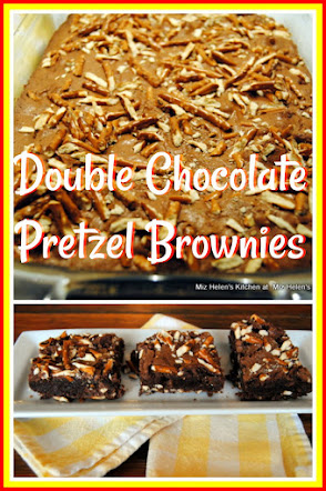 Double Chocolate Pretzel Brownies