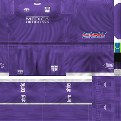 PES 6 Kits Defensor Sporting Club Season 2017/2018 by Ignaxx