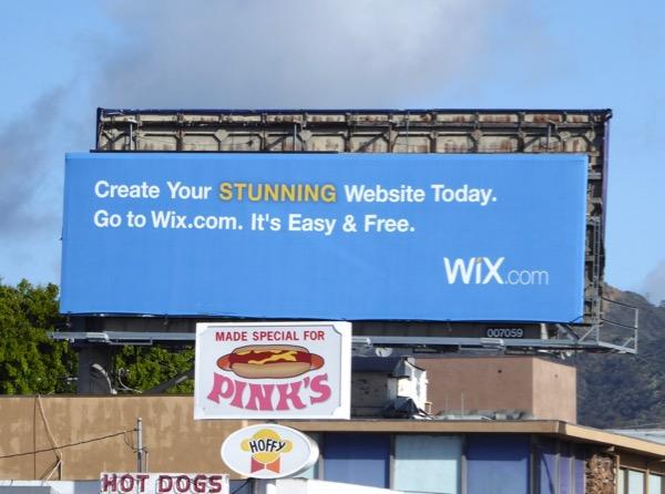 Wix website design billboard