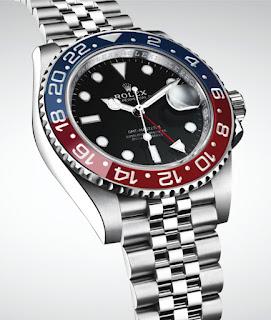 Montre Rolex GMT Master II acier lunette Pepsi céramique référence 126710 BLRO
