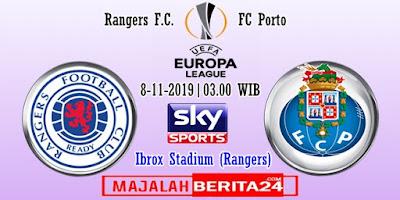 Prediksi Rangers vs FC Porto — 8 November 2019