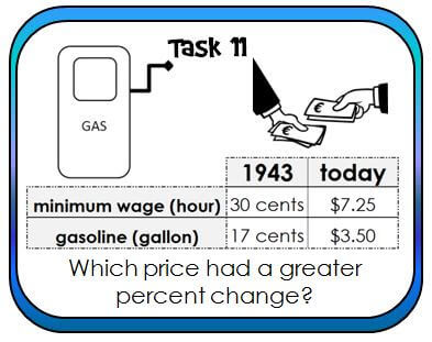 Prices have changed so much! Students work with past and current prices on these percent change task cards