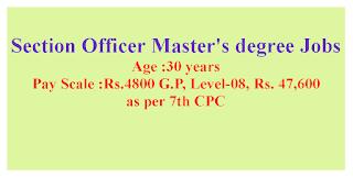 Section Officer Master's degree Jobs in GKCIET